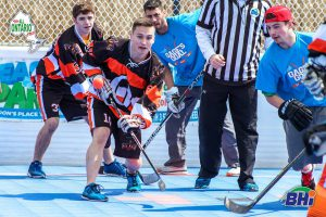 image of ball hockey