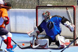 Image of Hamilton Lightning ball hockey goalie