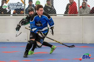 Image of Piranhas ball hockey player