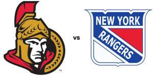 image of ottawa senators logo and new york rangers logo