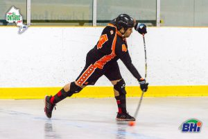 image of throwbacks ball hockey player