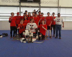 image of welland rebels bantam ball hockey team