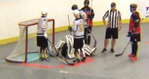 image of Pittsburgh Gods injured goalie