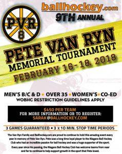 image of: Pete Van Ryn Tournament Poster