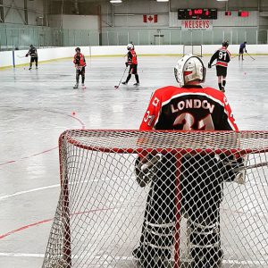 image of: london reapers goalie