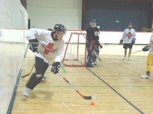 image of: ball hockey defense