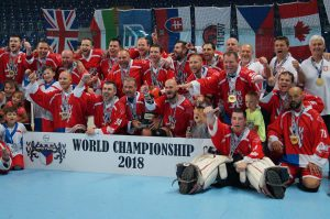image of team czechia ball hockey team