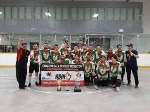 image of big bastone ball hockey team