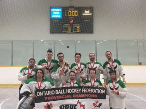 image of brampton eagles ball hockey team