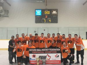 image of eagles ball hockey team