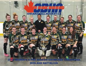 image of midland battalion ball hockey team