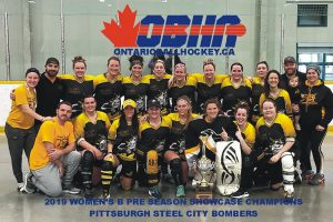 image of pittsburgh steel city bombers ball hockey team