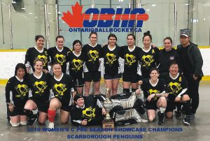 image of scarborough penguins ball hockey team