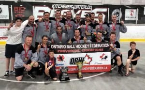 image of windsor mens masters 40+ ball hockey team