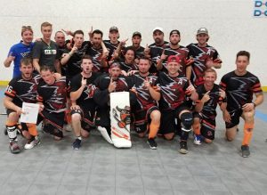 image of hamilton outlaws ball hockey team