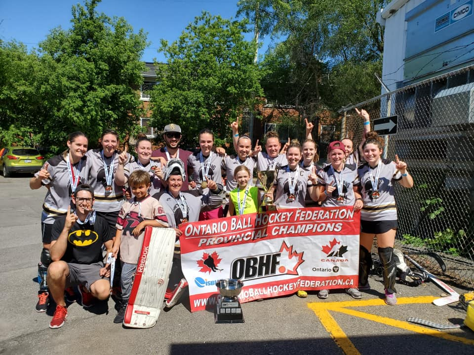 image of ottawa spartans ball hockey team
