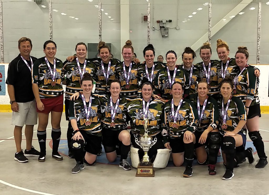 image of midland battalion ball hockey team