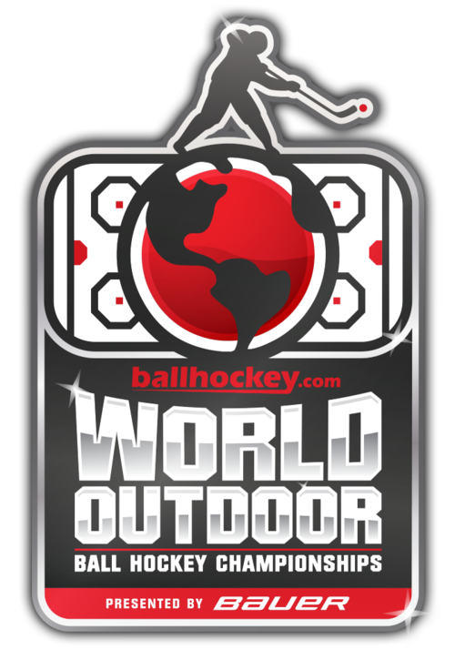 world outdoor ball hockey championship logo