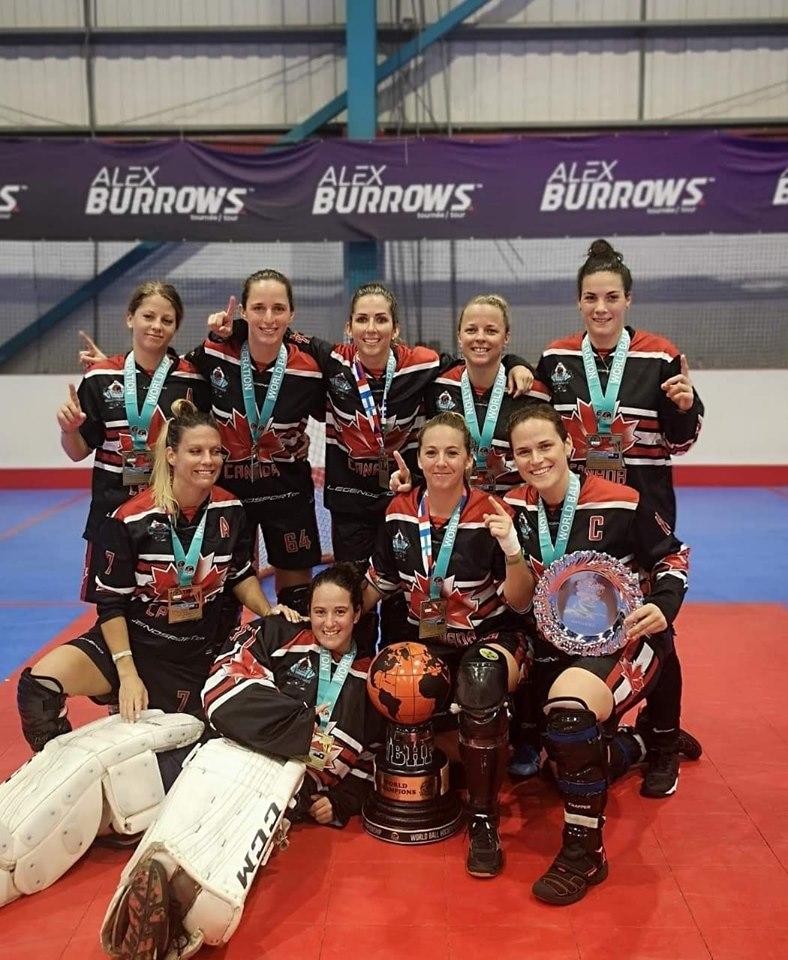 image of canada womens ball hockey team