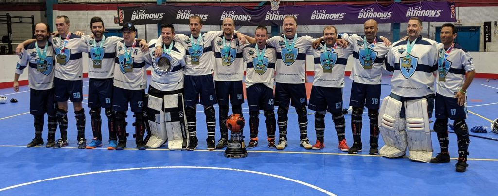 image of Quebec Masters ball hockey team