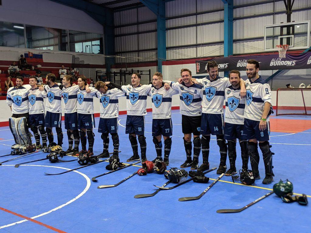 image of quebec men's ball hockey team